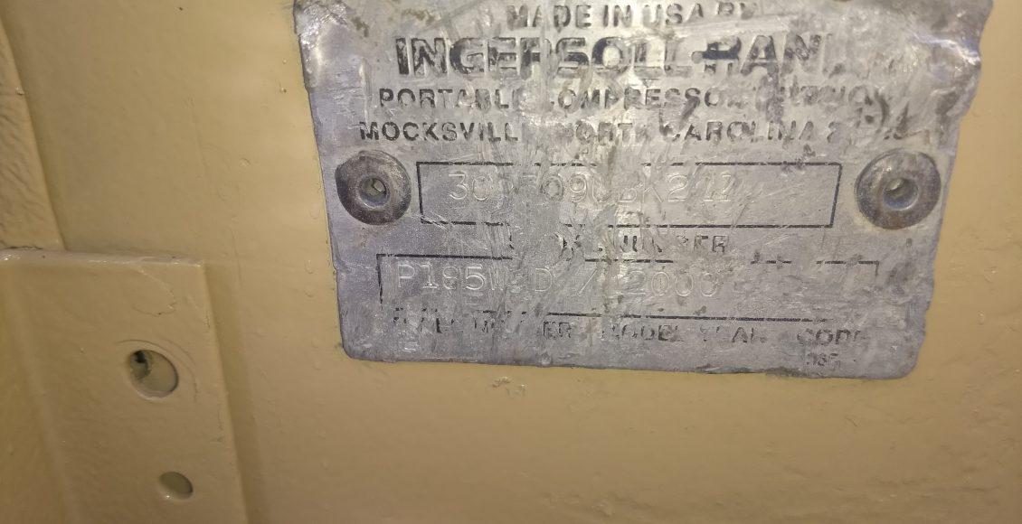 Compresor Ingersoll Rand 185